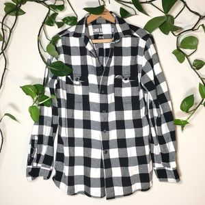 Black and white flannel, punk lumberjack style